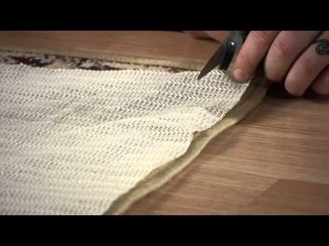 How to Properly Trim an Underlay for an Area Rug : Carpet & Rugs