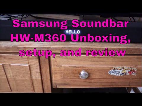 🔊 Samsung Soundbar HW-M360 unboxing, setup, and review