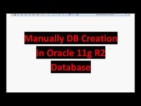 Oracle 11g Tutorial - Creating 11g R2 Database Manually
