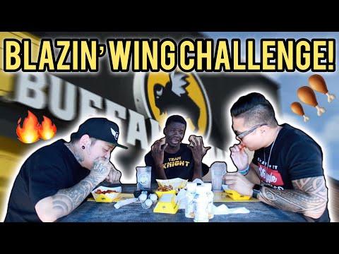 SPICY Buffalo Wild Wing's BLAZIN Challenge!!