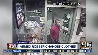 Shell gas station robber in Phoenix