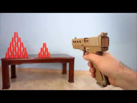 How to make a paper gun  shoot  with trigger.