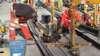 Track Welding on Sheffield Supertram Track
