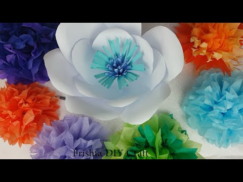DIY How To | Giant Paper Flower Backdrop | Giant Paper Flower Tutorial #2
