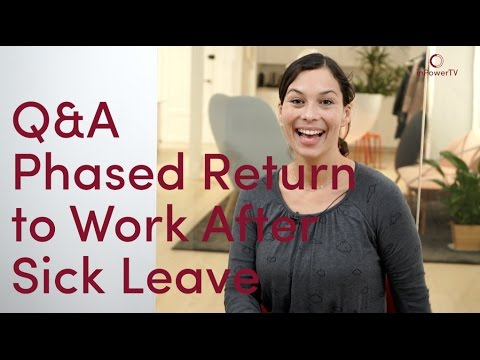 How to Get back to Work after a Stress Sick Leave