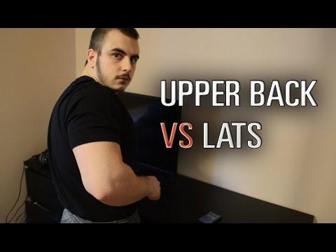Upper Back vs Lats