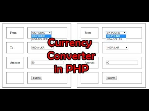 how to make a currency converter in php step by step