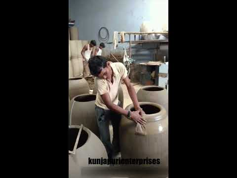 Indian traditional tandoor (clay tandoor) making in my factoy Kunjapuri Enterprises