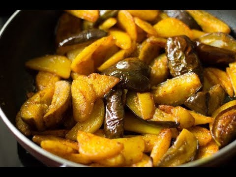 Aloo Baingan Recipe| Aloo Baingan Ki Sabzi In Kadai| Quick Aloo Baingan Ki Sukhi Sabji |Side by side