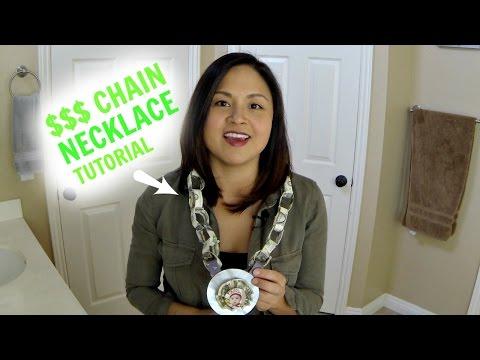 DIY Money Necklace Tutorial
