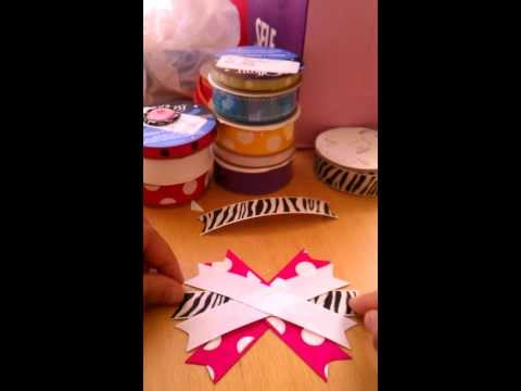 How to make a stacked hair bow part 1