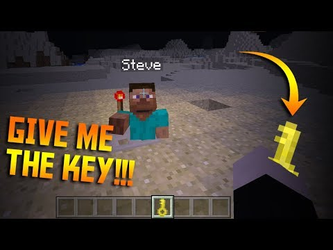 How to make TRAPS with KEY LOCK in Minecraft PE (command blocks)