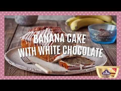 How to Make Easy Banana and White Chocolate Cake