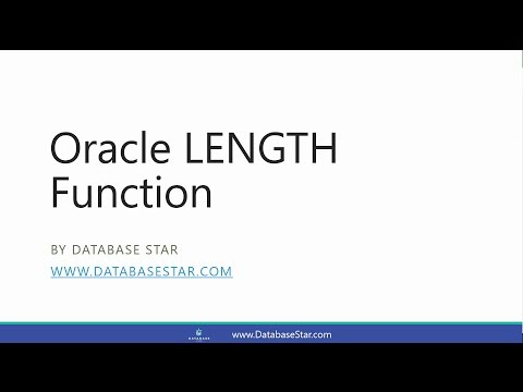 Oracle LENGTH Function