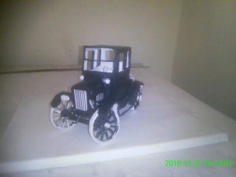 Making papermodel Ford model t