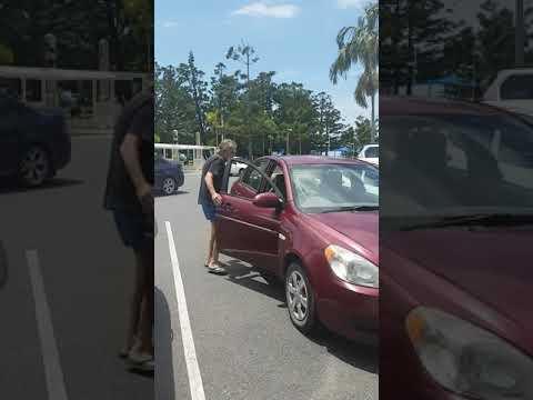 Disabled parking with arrogant man
