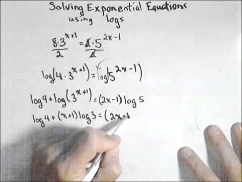 Solving Exponential Equations Using Logs, 2