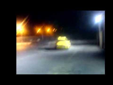 Big yellow taxi drifting in donegal