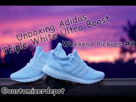 Unboxing Adidas Triple White Ultraboost 3.0 (Weekend Pickups #2)