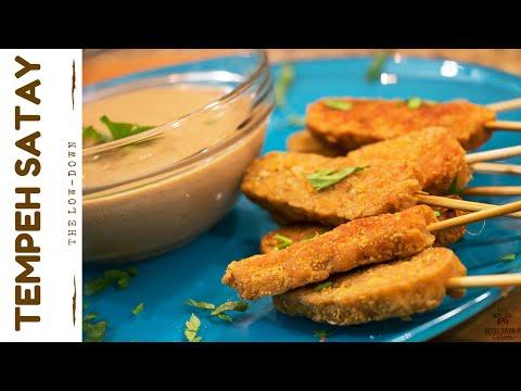 Tempeh Satay with Peanut Dipping Sauce   Vegan Recipe