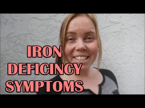 MUST KNOW: IRON & ANEMIA DEFICIENCY SYMPTOMS