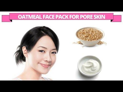 Oatmeal & yogurt face pack for large pore skin
