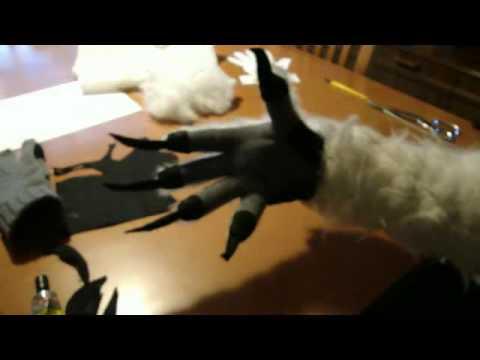 How to make werewolf gloves / hands tutorial part2. Paul Lugg