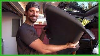 Removing Rear Liftgate Trim Panel Chevy Trailblazer Ext 2002 Manually Unlocking