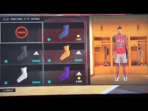 NBA 2K16 Can't remove accessories