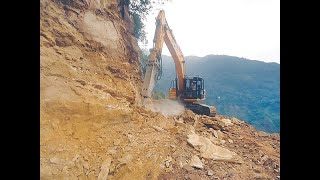 Road back cutting in hilly areas || legship road || sikkim.