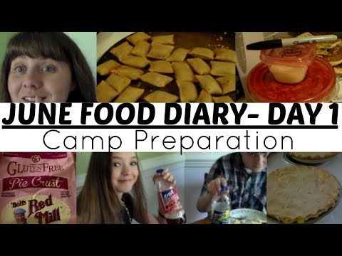 June 2017 Food Diary Day 1- Camp Preparation