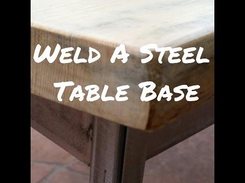 Welding a Steel Table Base
