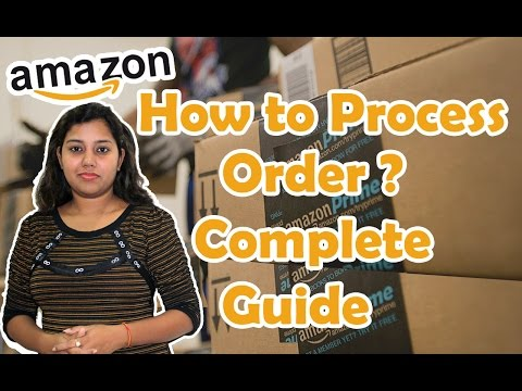 How to Process Orders in Amazon guide in Hindi - Seller central step by step tutorial