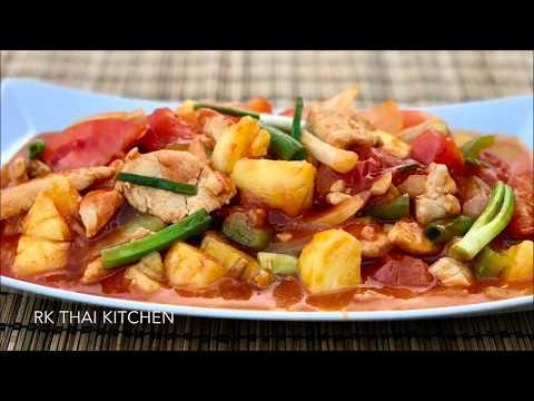 ผัดเปรี้ยวหวานไก่ Sweet and Sour Chicken Stir fry | RK Thai Kitchen