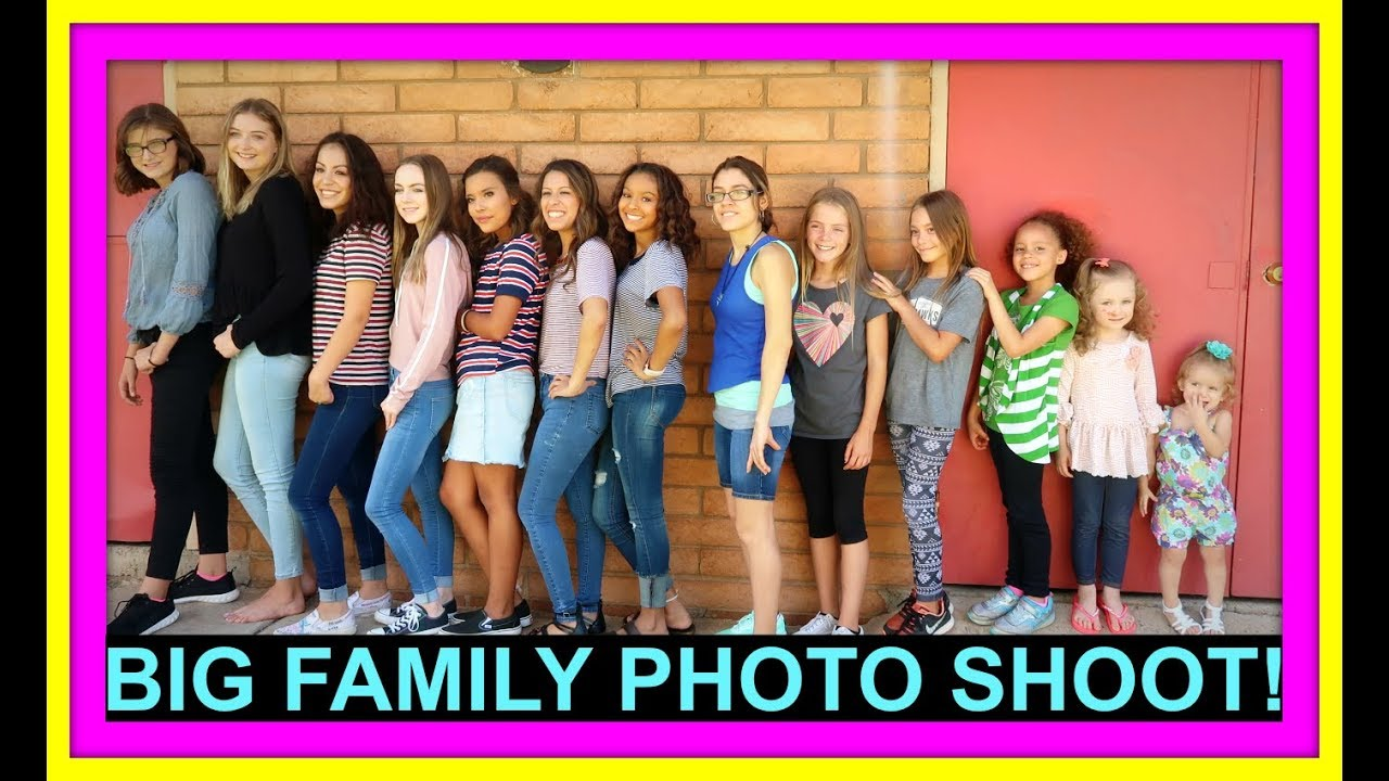 BIG FAMILY PHOTO SHOOT! | ADDISON BIRTHDAY | DANCE PARTY