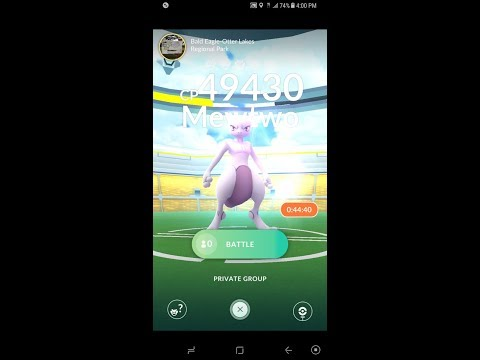 My First Mewtwo battle (Pokemon GO)