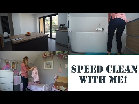 SPEED CLEAN WITH ME | CLEANING MY HOUSE READY FOR THE WEEK