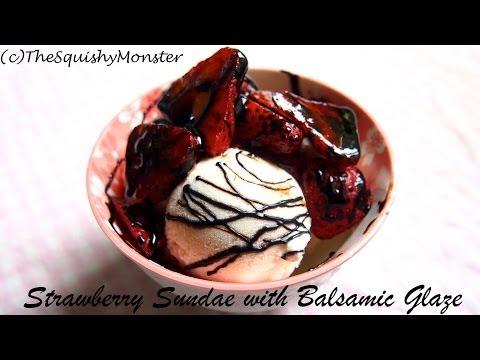 Strawberry Balsamic Sundae Recipe
