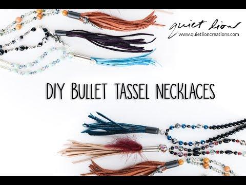 DIY Bullet Tassel Necklaces