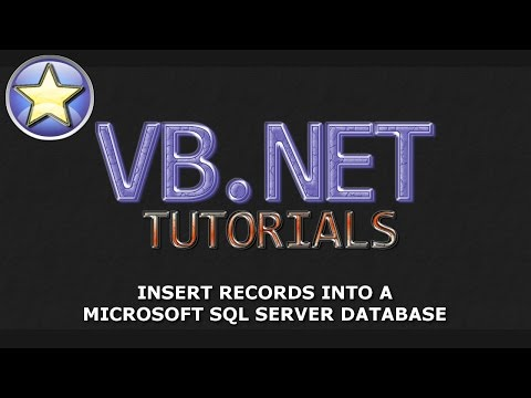 VB.NET Tutorial - INSERT records into a SQL Server Database - Part 2