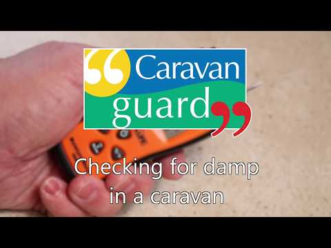 How to spot and check for damp in your caravan