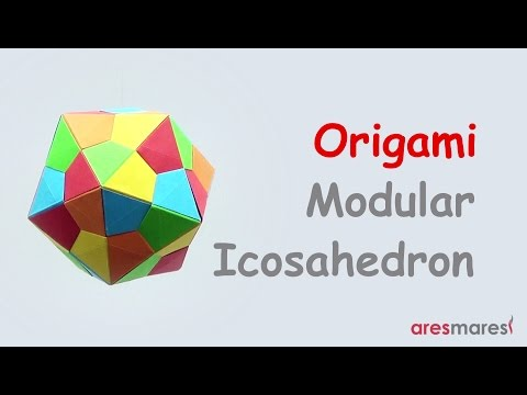 Origami Triangle Edge modules Icosahedron (intermediate - modular)