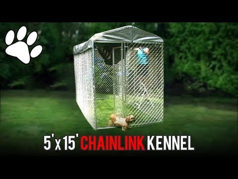 Lucky Dog 5' x 15' Chainlink Boxed Kennel Assembly