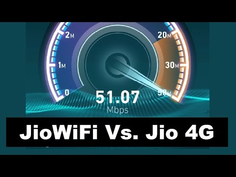 Reliance JioNet Public WiFi Hotspot Vs. Jio 4G Speed Test and Speed Comparison