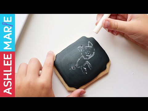How to make chalkboard cookies and edible chalk - back to school