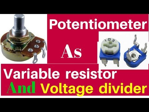 how to use potentiometer as variable resistor and voltage divider