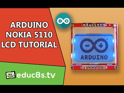 Arduino Tutorial: Nokia 5110 84x48 LCD display, how to drive with Arduino