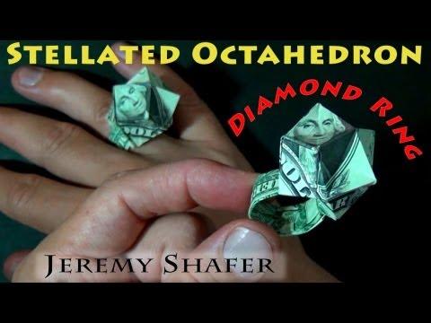 $1 Dollar Origami Diamond Ring