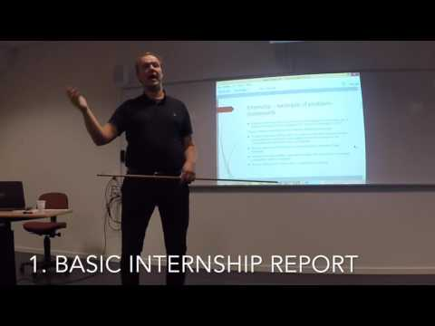 Introduction to internship and main thesis