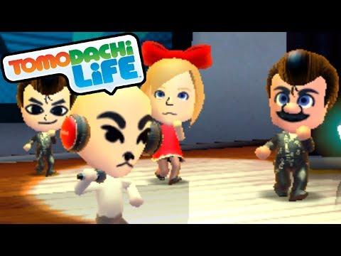 Tomodachi Life 3DS K.K. Slider Song, Slenderman Dream Gameplay Walkthrough PART 10 Nintendo Mii